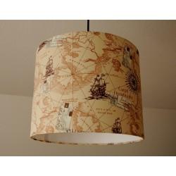 """Deckenlampenschirm """"Seekarte"""" (Vintage)"""