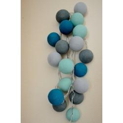 """20-er Cottonballs Lichterkette """"Sea Green"""""""