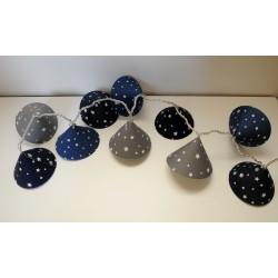 "Lichterkette ""Sterne im Himmel"" (blau-grau)"