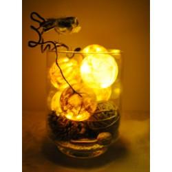 Leuchtkugeln im Glas (natur-nougat-schoko-cream)