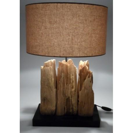 Treibholzlampe Natur handgefertigt