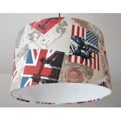"""Deckenlampenschirm """"USA/Great Britain"""""""