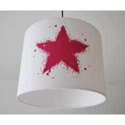 """Lampenschirm """" Stern"""" (pink)"""
