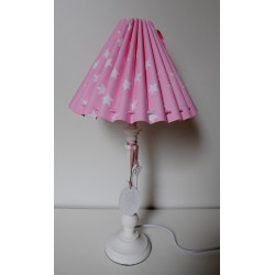 "Tischlampe ""Sterne"" (rosa)"