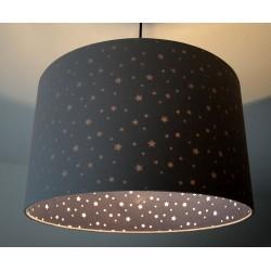 """Lampenschirm """"Sterne im Himmel"""" (Steingrau)"""