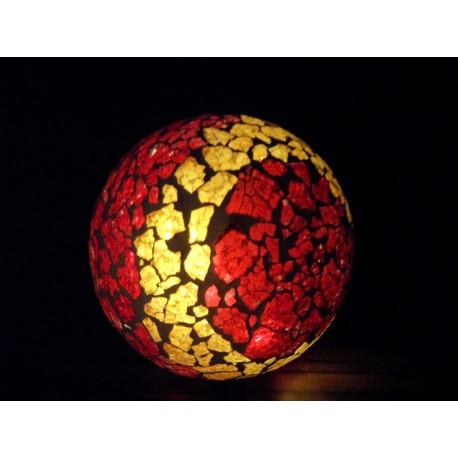 Leuchtkugel Mosaik Orange-Rot