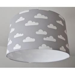 """Dekenlampenschirm """"Über den Wolken """" (grau)"""