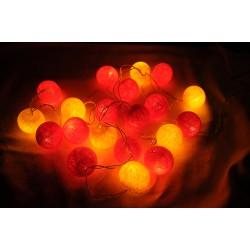 Elfenlichterkette rot-orange