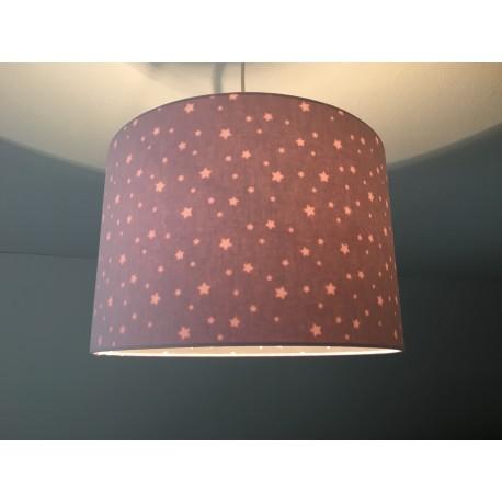 """Lampenschirm """"Sterne im Himmel""""(rosé)"""
