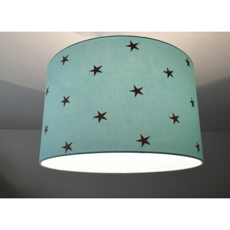 "Lampenschirm "" Sterne"" (aqua)"