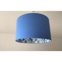 """Lampenschirm """"Modern Art-Blau"""""""