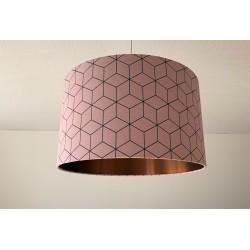 "Lampenschirm ""The Cube-Kupfer""(altrosa)"