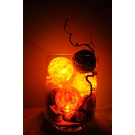 Leuchtkugeln im Glas (orange)