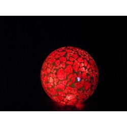 Leuchtkugel Mosaik Rot