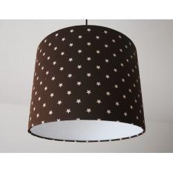 """Deckenlampenschirm """" Sterne"""" (braun)"""