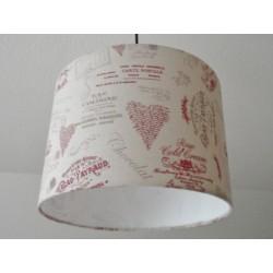 "Deckenlampenschirm ""Vintage Bordeaux"""