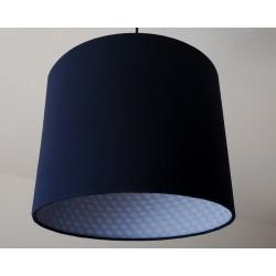 """Lampenschirm """"Barock"""" (blau)"""