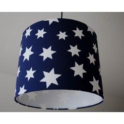 "Lampenschirm "" Stars"" (blau)"