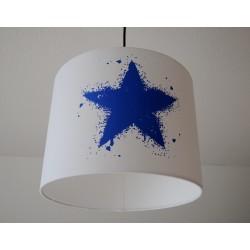 "Lampenschirm "" Stern"" (blau)"